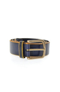 View the Burnished Leather Belt A/3227 - Navy online at Kafka