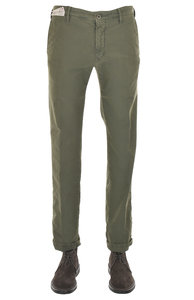 View the 1ST603 40611 736 Stretch Cotton Slim Fit - Olive online at Kafka
