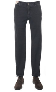 View the 1ST603 40640 935 Textured Stretch Cotton Slim Fit - Charcoal Grey online at Kafka