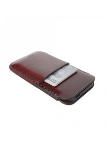 View the iPhone 5/Card Sleeve Oxblood online at Kafka