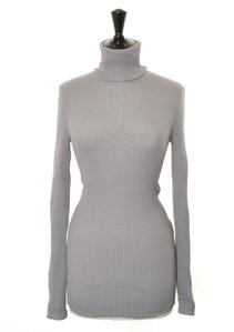 View the Roll Neck Silk Rib Grey online at Kafka