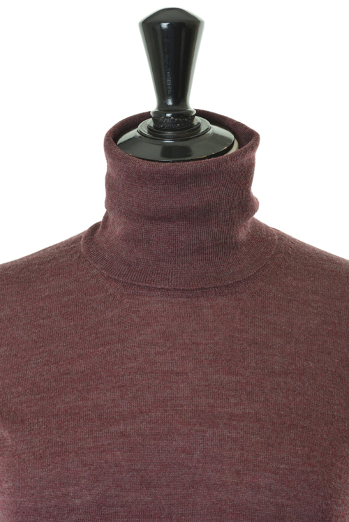 Slowear 850005 Sweater Turtle- Burgundy