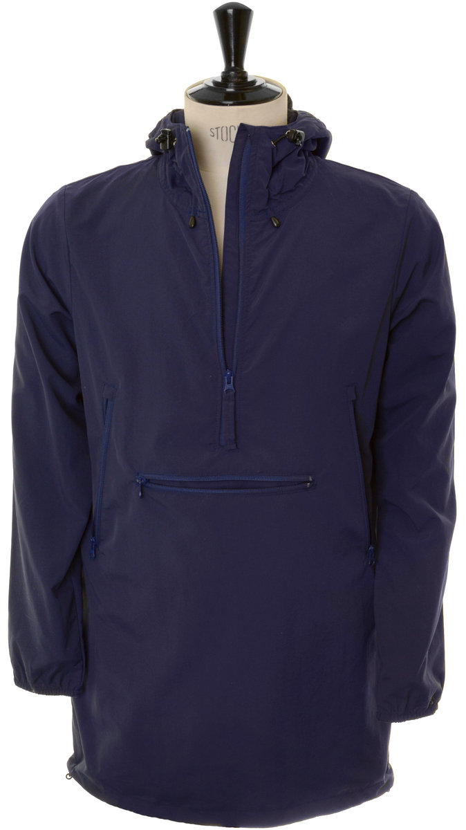 Mt. Rainier Design Woven Windshed Long Anorak - Dark Navy