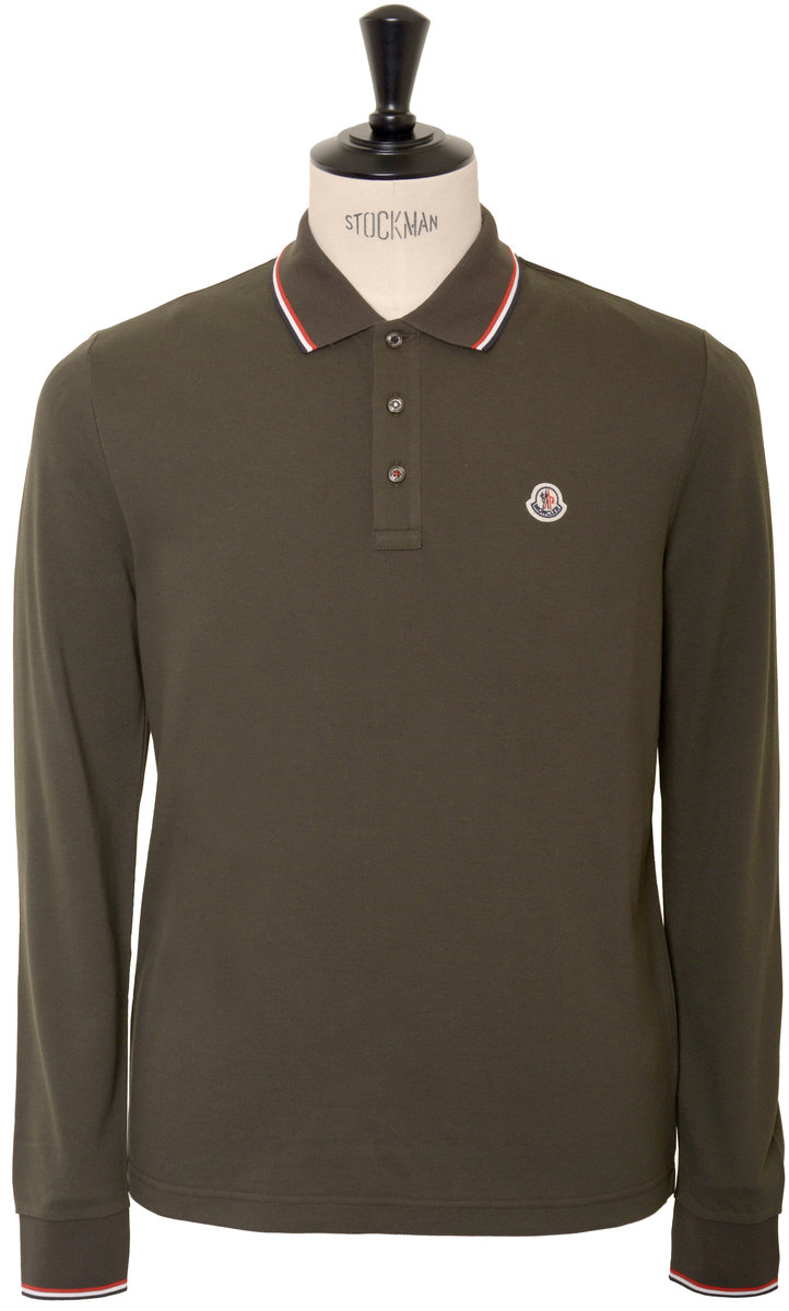 moncler green polo shirt