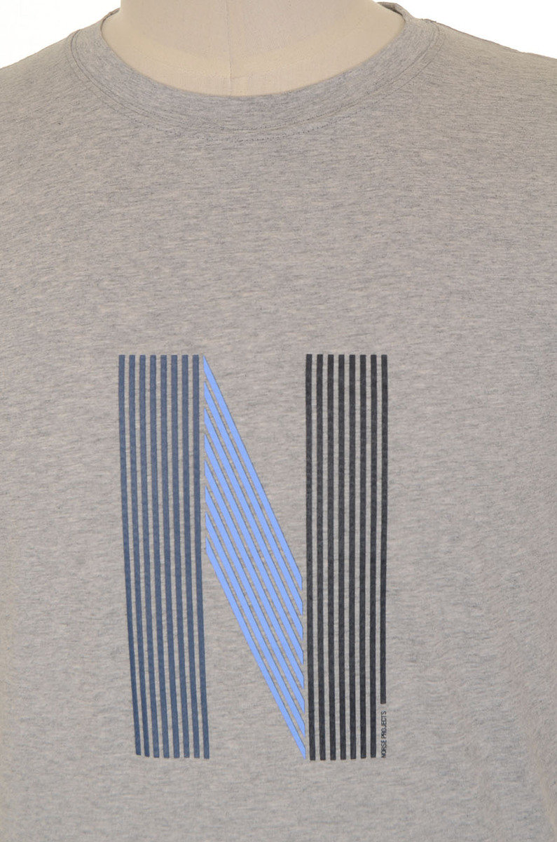 Norse Projects Niels Layer Logo - Light Grey Melange